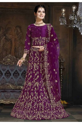 Purple Colour Indian Designer Lehenga Choli.