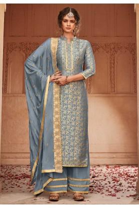 Grey Colour Women's Salwar Suit.