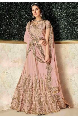 Designer Lehenga Choli Peach Colour.