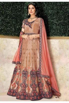 Rust Colour Women's Lehenga Choli.