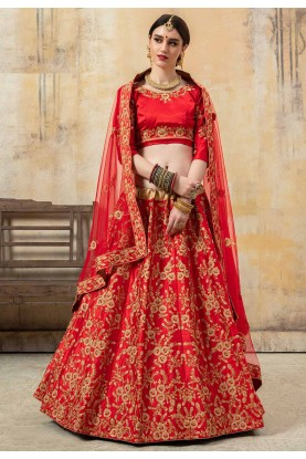 Indian Wedding Lehenga Choli Red Colour.