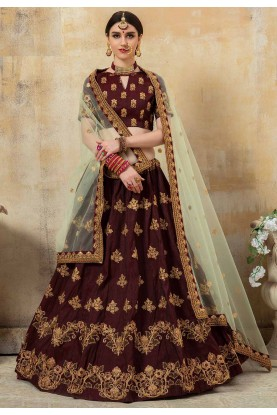 Maroon Colour Wedding Lehenga Choli.