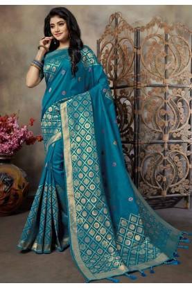 Blue Colour Women Saree.