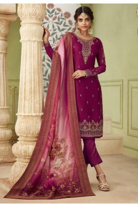 Maroon Colour Designer Salwar Suit.