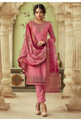 Pink Colour Indian Designer Salwar Suit.
