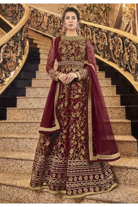 Maroon Coloue Designer Salwar Suit.