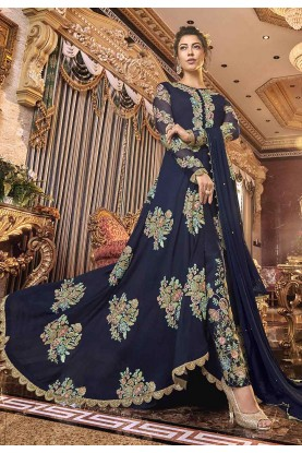 Designer Salwar Suit Blue Colour.