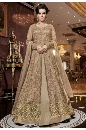 Beige Colour Indian Wedding Salwar Suit.