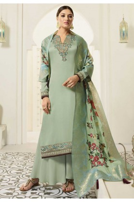 Sea Green Colour Designer Salwar Suit.