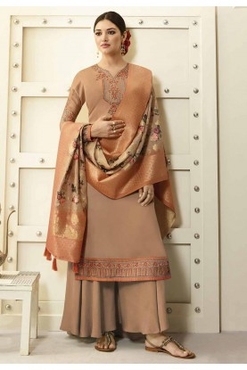 Beige Colour Digital Print Salwar Suit.