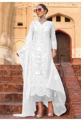 White Colour designer Salwar Suit.