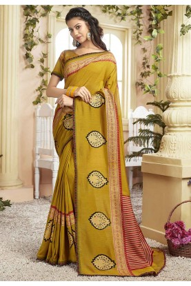 Yellow Colour Traditional Saree.