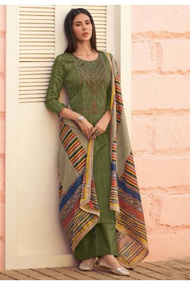 Green Colour Designer Salwar Kameez.