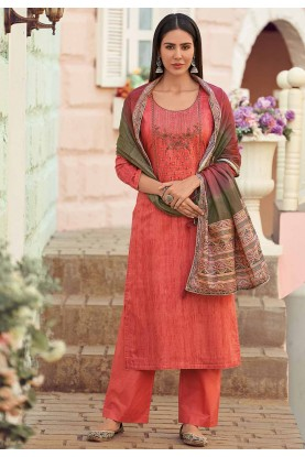 Red Colour Salwar Kameez.