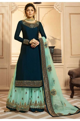 Blue Colour Designer Salwar Suit.