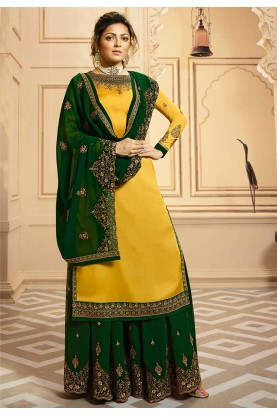 Party Wear Salwar Kameez Yellow Colour.