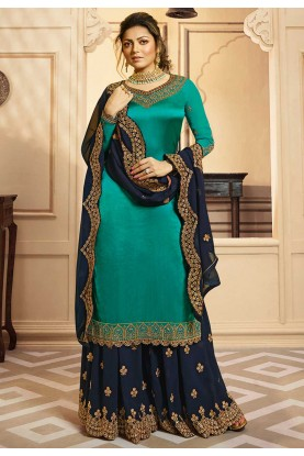 Green Colour Bollywood Salwar Suit.