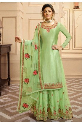 Fabulous Designer Salwar Kameez Green Colour.