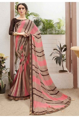Brown Colour Women Saree.