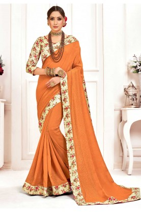 Indian Traditional Saree  Mustard Colour.