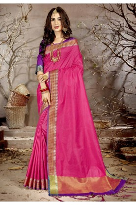 Pink Colour Traditional Saree.