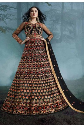 Black Colour Party Wear Salwar Kameez.