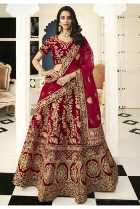 Red Colour Wedding Lehenga Choli.