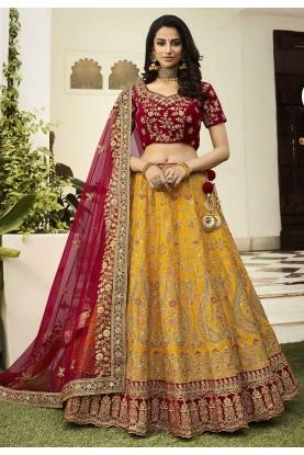 Mustard Colour Designer Lehenga Choli.