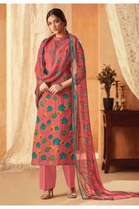 Peach Colour Casual Salwar Kameez.