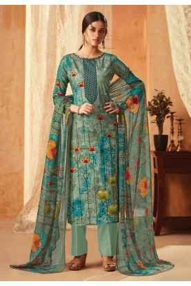 Multi Colour Casual Salwar Suit.