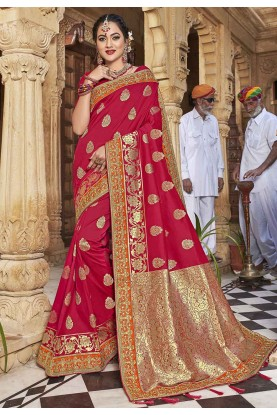 Indian Wedding Saree Red Colour.