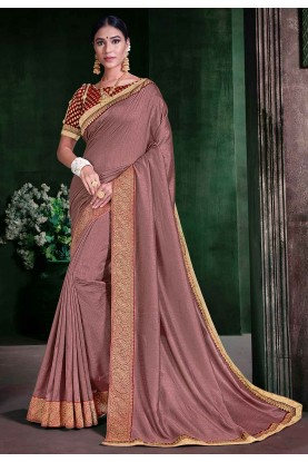 Rose Pink Colour Silk Saree.