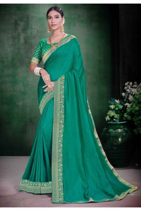 Green Colour Silk Weaving Saree.