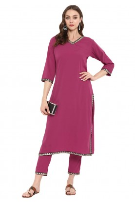 Designer Kurti Pink Colour.