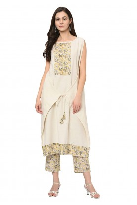 Off White Colour Readymade Kurti.