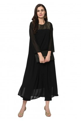 Black Colour Casual Kurti.