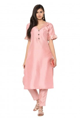 Light Pink Colour Women's Kurti.