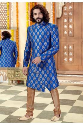 Royal Blue Colour Men's Indowestern.