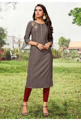 Casual Kurti Brown Colour.