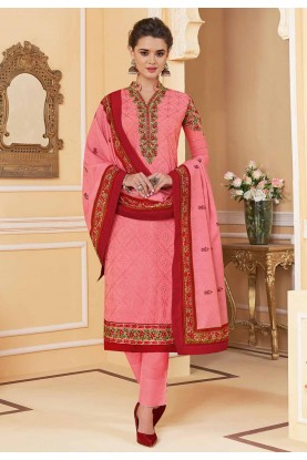Indian Designer Salwar Suit Pink Colour.