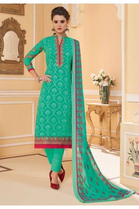 Light Green Colour Embroidery Salwar Suit.