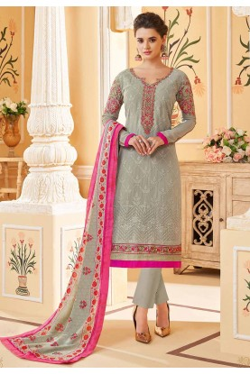 Grey Colour Women's Salwar Kameez.