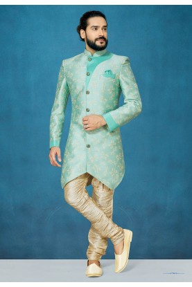 Green Colour Designer Indowestern.