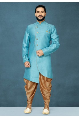 Sky Blue Colour Men's Indowestern.