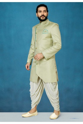Pista Green Colour Indian Designer Indowestern.