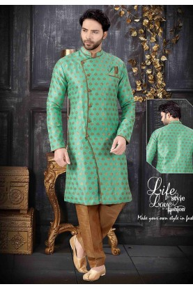 Light Green Colour Men's Indowestern.