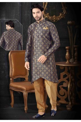 Navy Blue Colour Designer Indowestern.