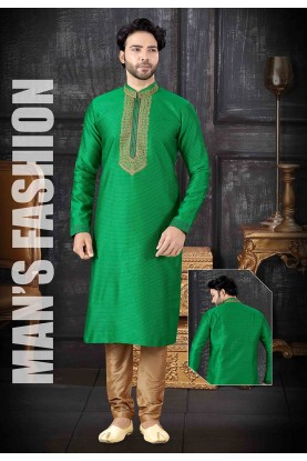 Designer Kurta Pajama Light Green Colour.