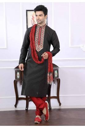 Buy kurta pyjama online in black colour online