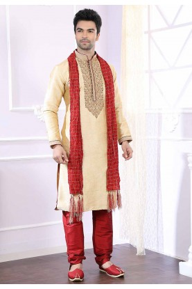 Want to buy designer kurta pajama in golden colour